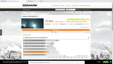 3DMark 11 results pre stress test