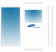 Upcoming Samsung handset with screens on both sides (Source: Mobiel kopien)