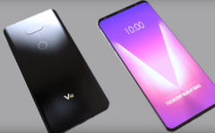 A concept render of the LG V40 ThinQ. (Source: Techconfigurations)