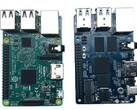 Spot the difference: The RPi 3B and the Banana Pi BPI M4. (Image source: CNX Software)