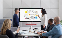 Both Google and Microsoft have a vision for big-screen digital collaboration in the office. (Source: Google)