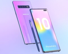 A flaming pink Samsung Galaxy Note 10 would really stand out. (Image source: Phone Arena)