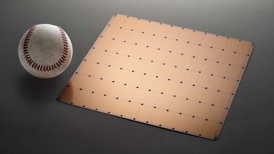 The chip is essentially an entire wafer that is as large as an iPad. (Source: Cerebras)