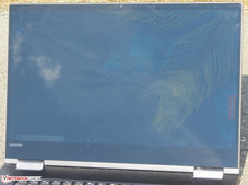 The Yoga 730 outside (shot in direct sunlight; the sky is clear)