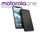 "The leaked device could end up being branded as the ""motorolaone Power."" (Source: Android Headlines)"