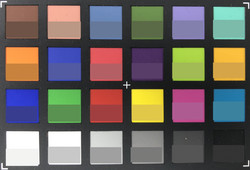 ColorChecker Passport: The reference color is displayed in the lower half of each patch.