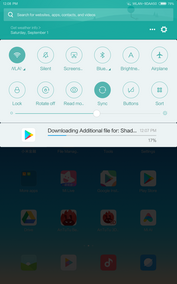 MIUI 9 Quick Settings