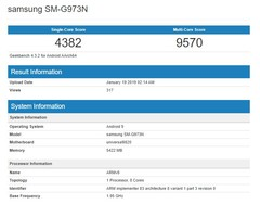 The Galaxy S10 Exynos 9820 has landed on Geekbench ahead of its February 20 launch. (Source: GSM Arena)