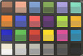 ColorChecker: The lower half of each area of color displays the reference color – main camera