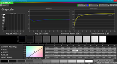 Grayscale after calibration