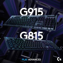 The new Logitech G915 and G815 are high-end gaming keyboard with low-profile mechanical switches. (Source: Logitech)