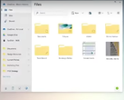 The new file explorer design looks to be inspired by the Linux KDE interface. (Source: Instagram)
