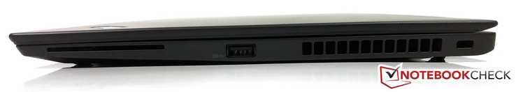 Right side: SmartCard, USB 3.0, slot for a security lock
