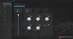 Audio control with equalizer