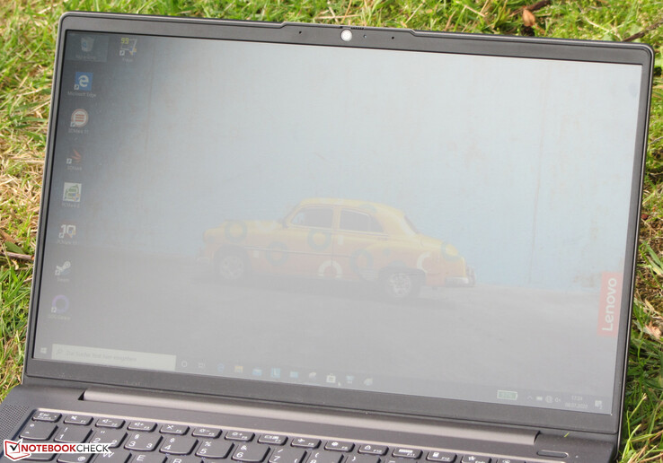 The IdeaPad outdoors (shot in an overcast sky)