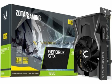 Zotac GeForce GTX 1650. (Source: VideoCardz)