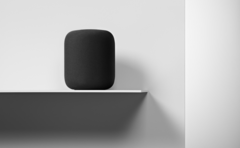 Apple's third-rated HomePod speaker (presumably not on a wooden shelf). (Source: Apple)