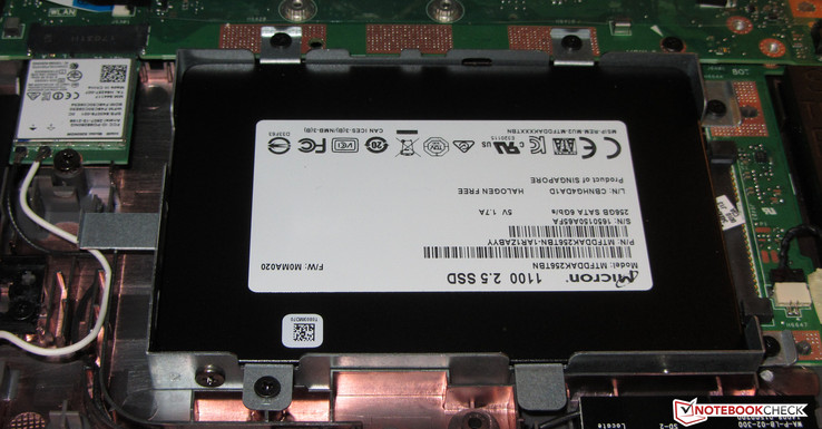 Asus installed a 2.5-inch SSD.