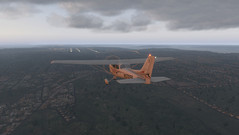 X-Plane 11 Cessna 172SP external on approach. (Source: Own)