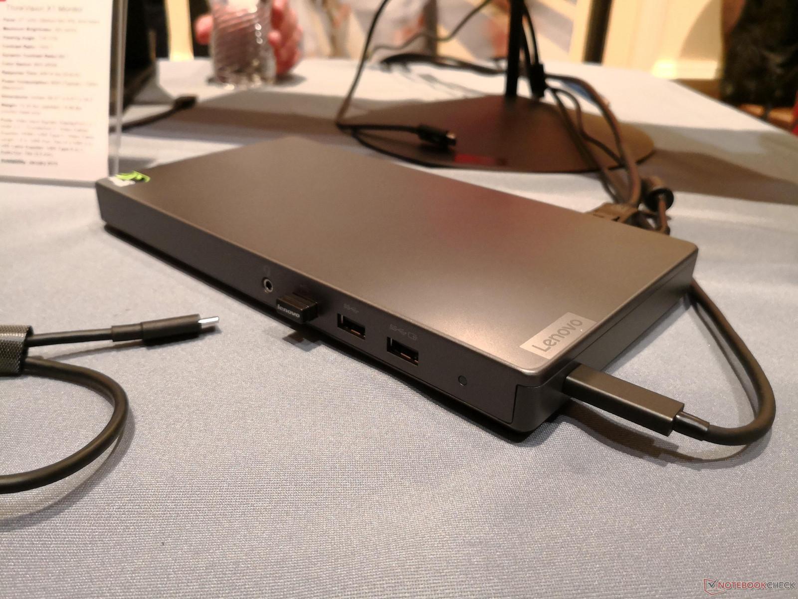 Portable Lenovo Thunderbolt 3 dock integrates a GTX 1050 GPU