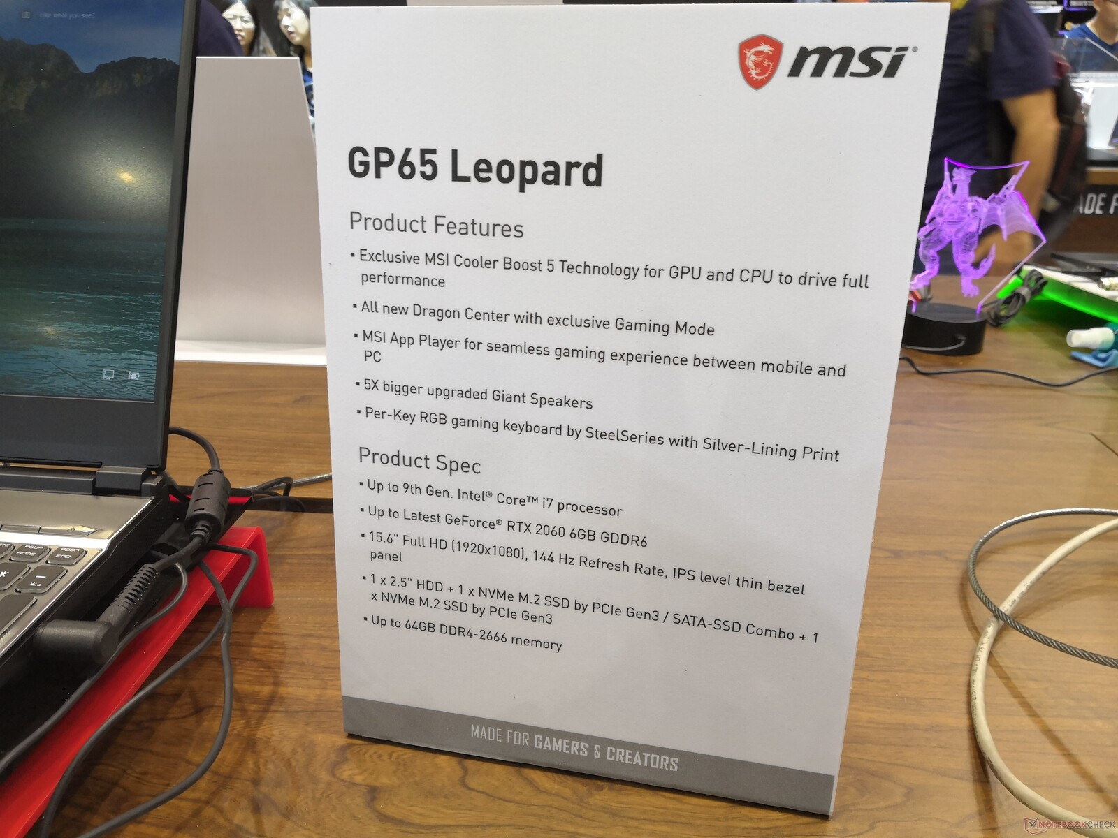 Msi Gp65 And Gp75 Will Bring Narrow Bezels Rtx Graphics