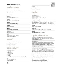 Lenovo ThinkPad X13 (Intel) specifications