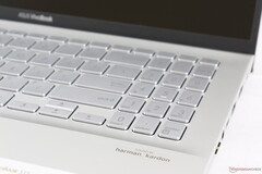 The NumPad and Arrow keys of the Asus VivoBook S15 are smaller, spongier, and more cramped than the main QWERTY keys despite having adjacent extra space for larger key caps