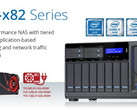 QNAP TVS-x82 business NAS with up to 8 GB RAM and up to Intel Core i7 Skylake processor