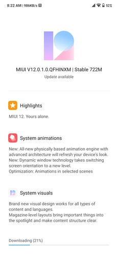 It seems that V12.0.1.0.QFHINXM is finally reaching more Redmi Note 7 Pro handsets. (Image source: @naveenjill3)