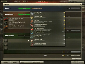 World of Tanks 0.7.0 - consumables purchase