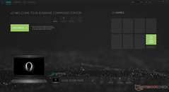 Alienware Command Center home screen
