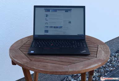 Lenovo ThinkPad E580 in the shade