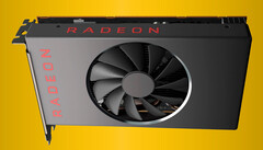 The RX 5600 XT will apparently run on a 192-bit bus with GDDR6 VRAM. (Image source: Videocardz)
