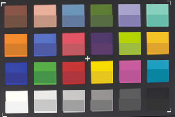 X-Rite ColorChecker Passport: ColorChecker: The lower part of each field depicts the target color.