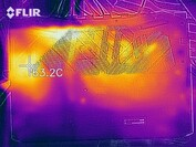 Heat map of the bottom of the device during a stress test