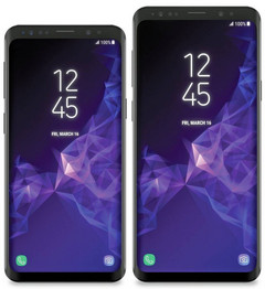 Galaxy S9 and S9 Plus renders. (Source: @evleaks)