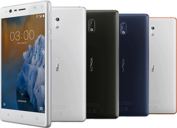 "The budget phone with a ""premium"" design, the Nokia 3. (Source: HMD)"