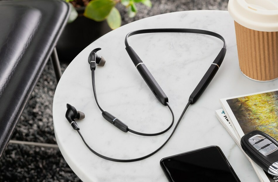 The new Jabra Evolve 65e is a pair of neckbuds with