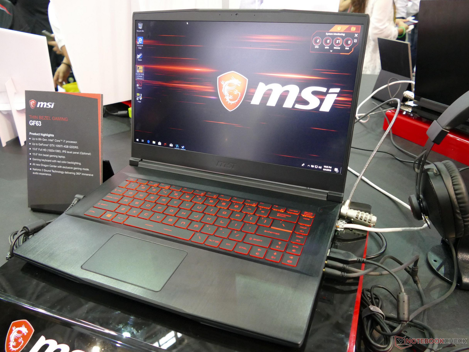 MSI showcases budget GF63 gaming laptop - NotebookCheck net News