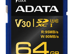 The V30 standard enables video recording speeds of up to 30 MB/s. (Source: ADATA)