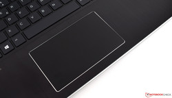A view of the HP ProBook x360 440 G1's touchpad.