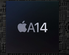The A14 Bionic performs better in the new iPad Air, and by quite a margin. (Image source: Apple - edited)