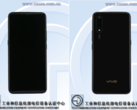 The Vivo V1921A on TENAA's website. (Source: TENAA)