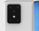The back of the Galaxy S11+ may look more like this initial renders, according to Ice Universe. (Image source: Ben Geskin)