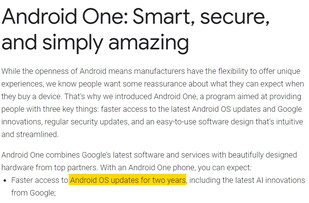 Spot the difference: Google on Android One updates in 2018. (Image source: Google)