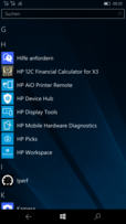 HP Elite x3: HP apps