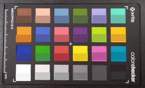 Picture of ColorChecker colors. We show the original colors in the bottom half of each patch.
