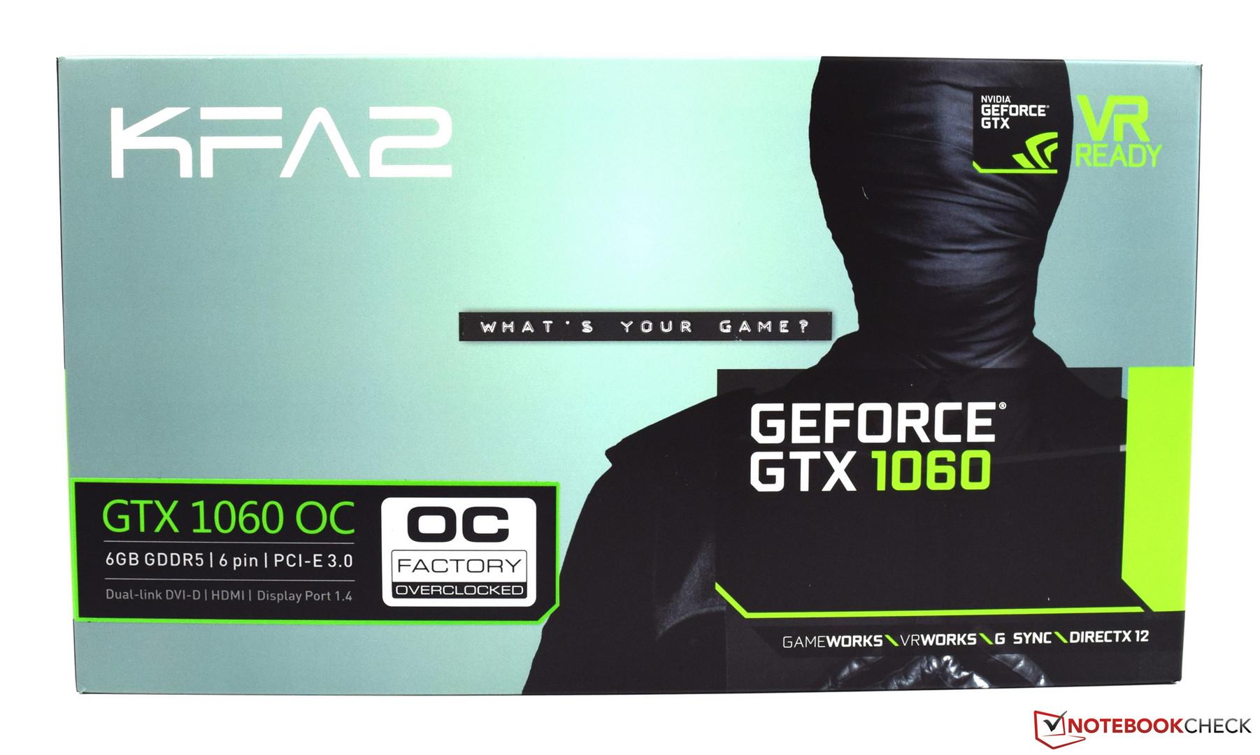 KFA² GeForce GTX 1060 6 GB EX OC Review - NotebookCheck net