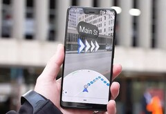 Google Maps AR navigation in action (Source: The Wall Street Journal)