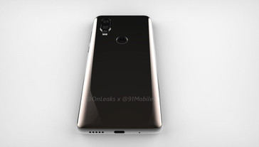 Bottom edge with USB Type-C port. (Source: OnLeaks/91mobiles)